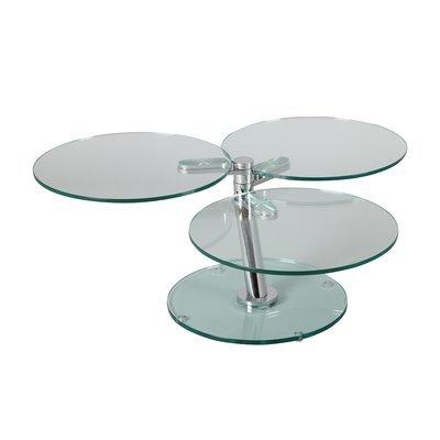 Table basse 3 plateaux ronds en verre trempé - GLASS
