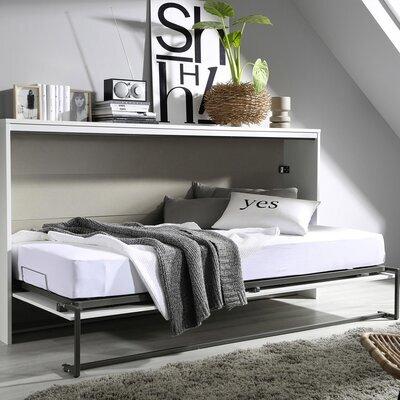 Lit 90x200 cm escamotable blanc