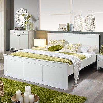 Lit en 180x200 cm charme blanc - ROSAMLA