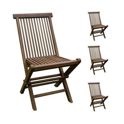 Lot de 4 chaises en teck pliables