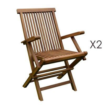 Lot de 2 fauteuils en teck