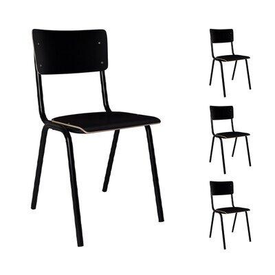 Lot de 4 chaises écolier noires - BACK TO SCHOOL