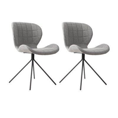 Lot de 2 chaises vintage en tissu gris - OMG