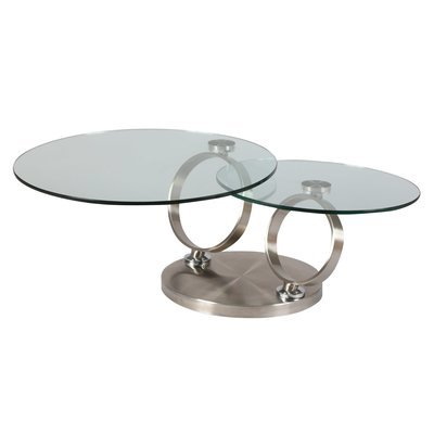 Table basse en verre trempé et métal - KANDINSKY