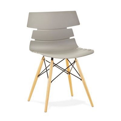 chaise coque plastique noir novak maison et styles. Black Bedroom Furniture Sets. Home Design Ideas