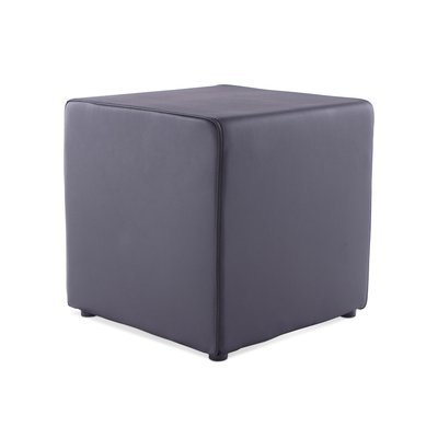 Pouf cube en PU noir - RABIK