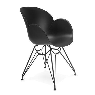 Fauteuil design piétement métal noir - UMILA