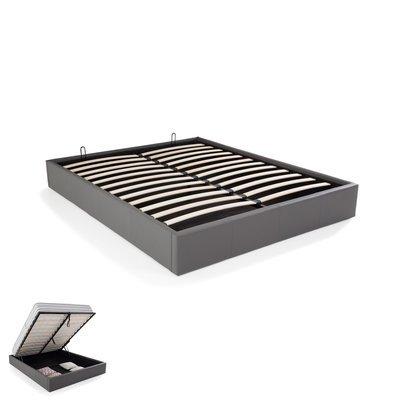 cadre lit coffre 140x190 blanc maison et styles. Black Bedroom Furniture Sets. Home Design Ideas