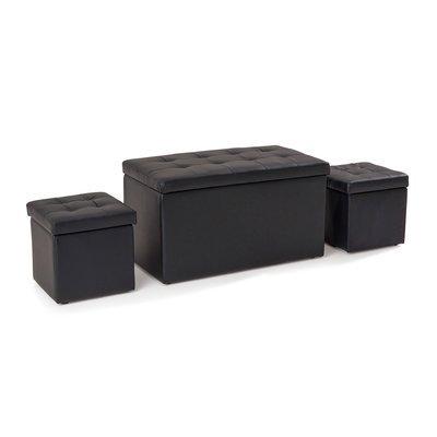 Ensemble 3 coffres coloris noir - BOXY