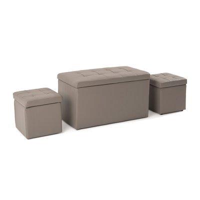 Ensemble 3 coffres coloris taupe - BOXY