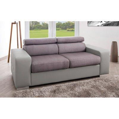 Canapé fixe relax 3 places coloris gris - JUPITER