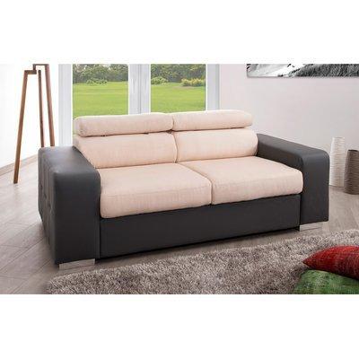 Canapé fixe relax 3 places coloris gris écru - JUPITER