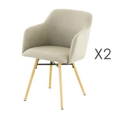 Lot de 2 fauteuils de repas gris clair  -  MYA