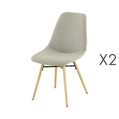 Lot de 2 chaises de repas gris clair  -  MYA