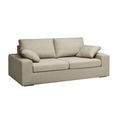 Canapé 3 places convertible 6cm en polyester gris - LOIS
