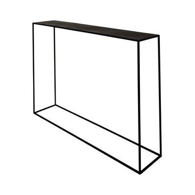 Console 110 cm en métal noir - CHARLTON