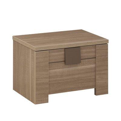 Chevet 1 tiroir décor chêne - AGATHE