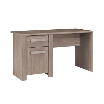 Bureau 1 porte 1 tiroir décor chêne - WINTCH