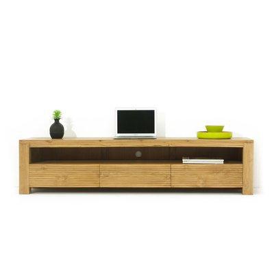 Meuble TV 3 tiroirs et une niche en teck naturel - JEPARA