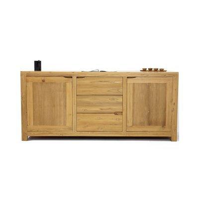 Buffet 2 portes et 3 tiroirs en teck naturel - JEPARA