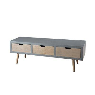 Meuble TV 3 tiroirs gris - ORIGIN