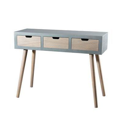 Table basse 1 niche et 1 tiroir gris - ORIGIN