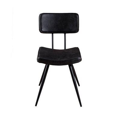 Lot de 2 chaises en PU noir - GUSTAVE