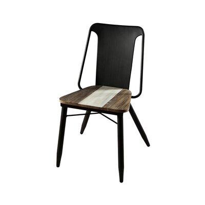 Lot de 2 chaises en bois et métal - DANUBE