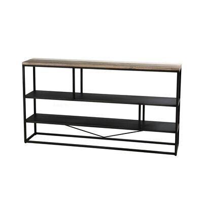 Etagère 3 niveaux en bois et métal - DANUBE