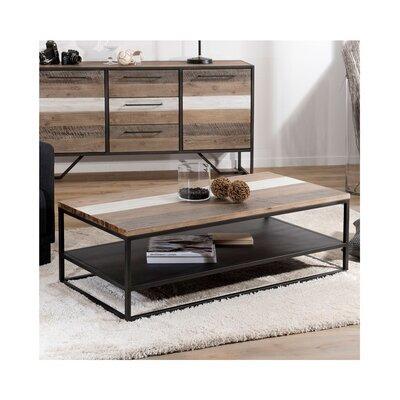 Table basse en bois et métal - DANUBE