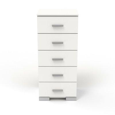 Chiffonnier 5 tiroirs blanc - HUGO