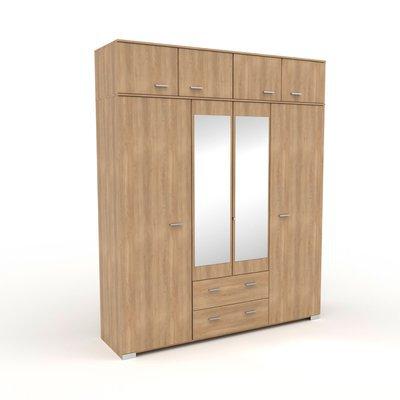 Armoire 8 portes et 2 tiroirs 198x241,5x55 cm naturel - CANDICE