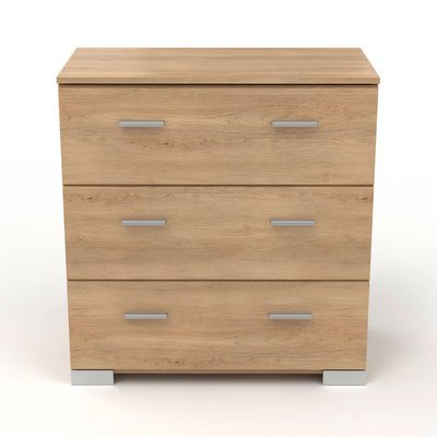 Commode 3 tiroirs naturel - CANDICE