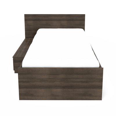 Lit 90x200 cm + tiroir chêne foncé - LIVIO