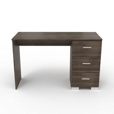 Bureau 3 tiroirs chêne foncé - LIVIO