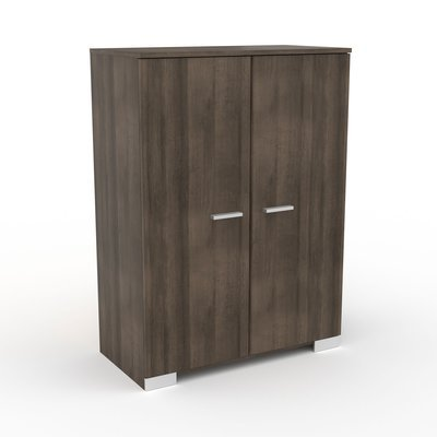 Buffet 2 portes chêne foncé - LIVIO