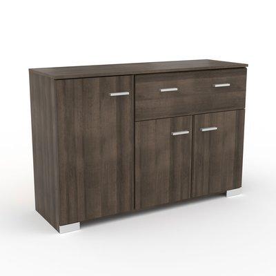 Buffet 3 portes et 1 tiroir chêne foncé - LIVIO