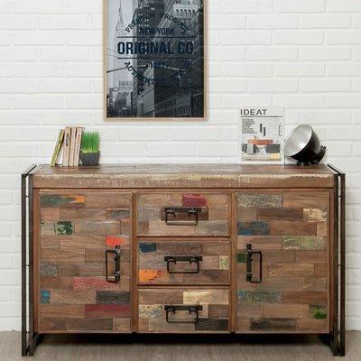 Buffet 2 portes et 3 tiroirs en teck recyclé - TUNDRA