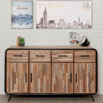 Buffet 4 portes et 4 tiroirs en teck recyclé - JAKARTA