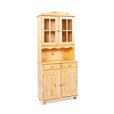 Buffet vaisselier 4 portes et 2 tiroirs en pin massif - CHAMONIX