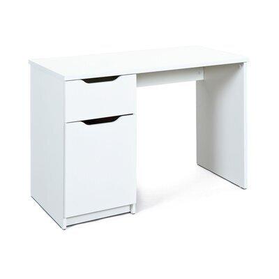 Bureau 1 porte et 1 tiroir blanc - BRUCE
