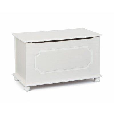 Coffre à jouet en pin massif 89x53x47 cm blanc - CHAMBERY