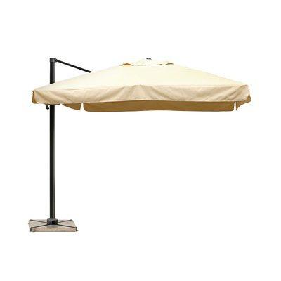Parasol déporté carré avec volets 3 m beige - PALERME
