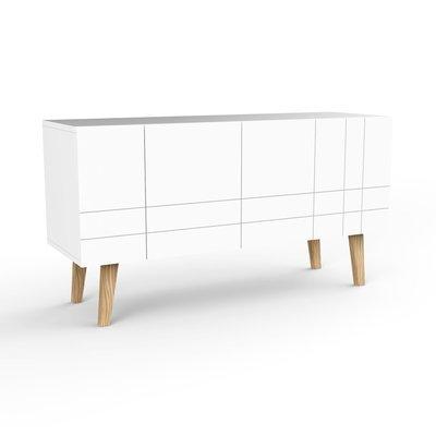 Buffet 4 portes 10x75x45 cm blanc - LONDRES