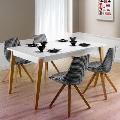 table basse 100x37 5x60 cm blanc londres maison et styles. Black Bedroom Furniture Sets. Home Design Ideas