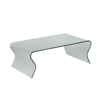 Table basse 120x65x42 cm en verre trempé - GLASS