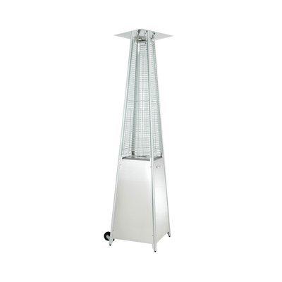 Parasol chauffant pyramide de 5 à 9,5 Kw inox - CHAUF'AIR