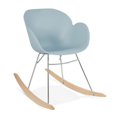 Chaise à bascule en plastique bleu - RABIK