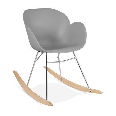 Chaise à bascule en plastique gris - RABIK