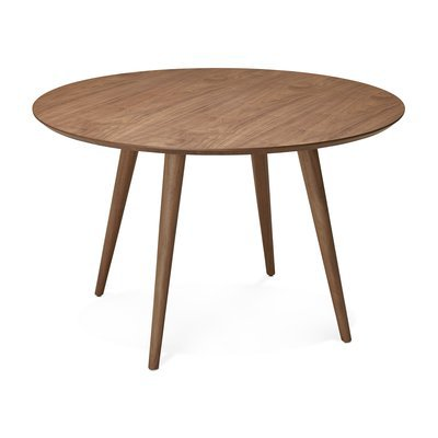 Table à manger ronde 120x120x75 cm en bois foncé - BALTIC